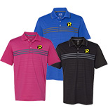 23672 - Adidas-Golf Puremotion Three Stripe Chest Polo