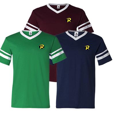 augusta sportswear v-neck jersey