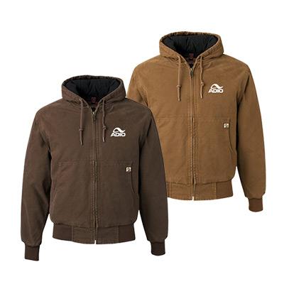 dri duck hooded boulder cloth jacket