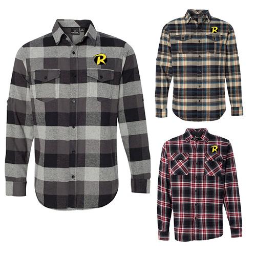 Burnside Yarn-Dyed Long Sleeve Flannel Shirt