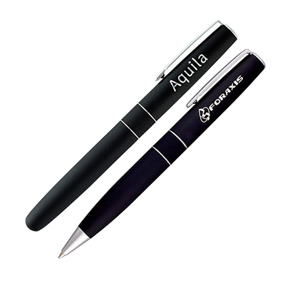 soho roller pen set (black)