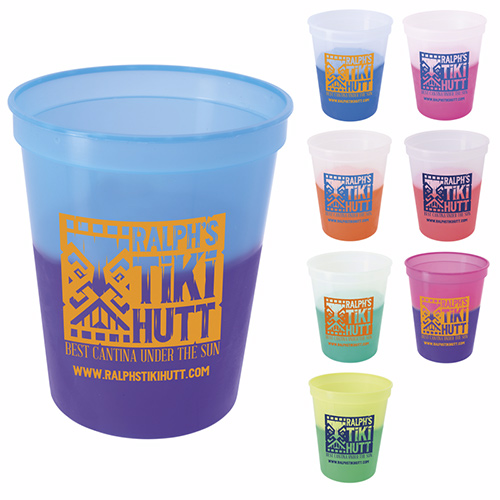 16 oz. color changing stadium cup