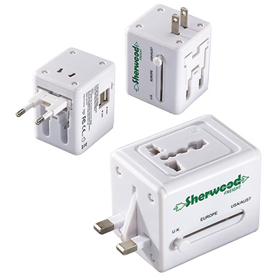 Quick Traveler - 2 USB Port Universal Travel Adapter