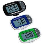 Imprinted Easy See Pedometer with Clock