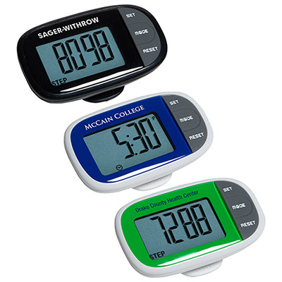 Easy See Pedometer with Clock