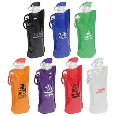 27 oz. flip top folding water bottle