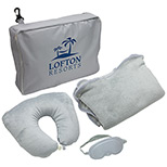23978 - 3-Piece Travel Pillow & Blanket Set