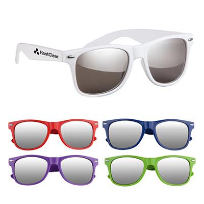 silver mirrored malibu glasses