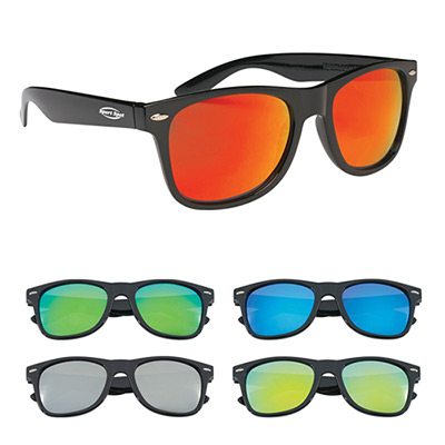 color mirrored malibu sunglasses