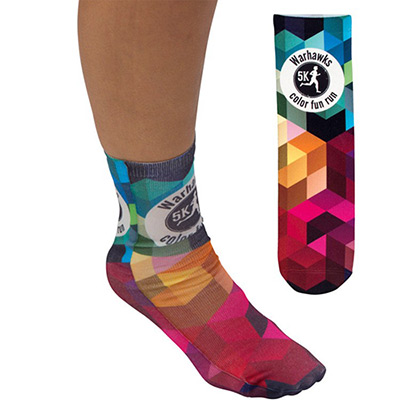 full color unisex crew socks