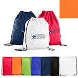 24068 - Sports Jersey Mesh Drawstring Backpack