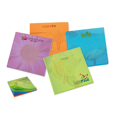 bic® 3 x 3 adhesive bright colored notepads - 50