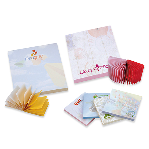 bic® 3 x 3 spring adhesive notepads - 100