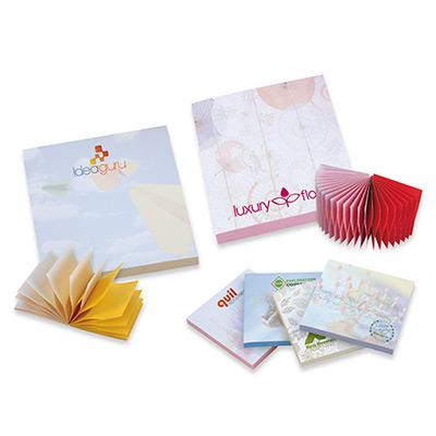 bic®  3 x 3  spring adhesive notepads - 50