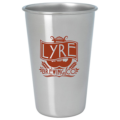 16 oz. stainless pint glass