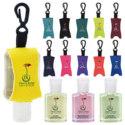 .5 oz custom label hand sanitizer with leash - scented