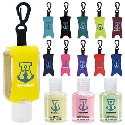1 oz Custom Label Hand Sanitizer With Leash - Scented