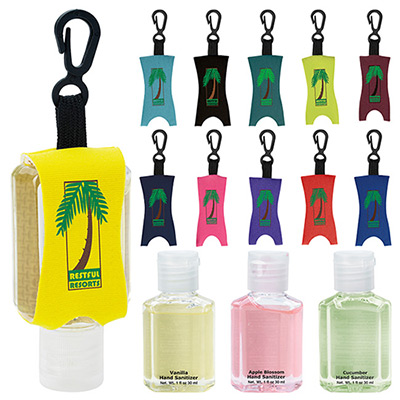 1 oz. Hand Sanitizer With Leash - Scented