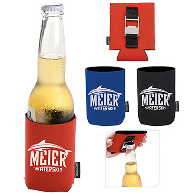 bottle opener koozie® can kooler