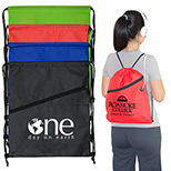 24295 - Drawstring Cinch Backpack with Earbud Slot