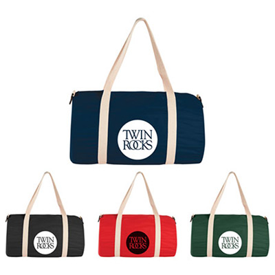 Cotton Barrel Duffel Bag