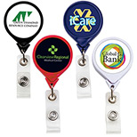 Promotional jumbo round badge reel