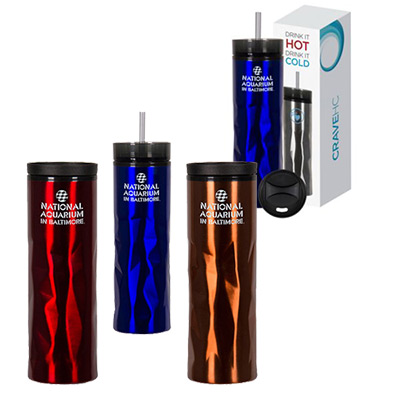 14 oz. Crave Stainless Tumbler Gift Set