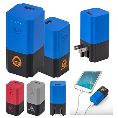 cupertino 2600 mah powerbank wall charger