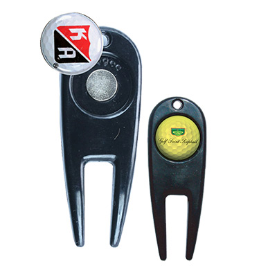 Golf Ball Marker With Magnetic Repair Tool