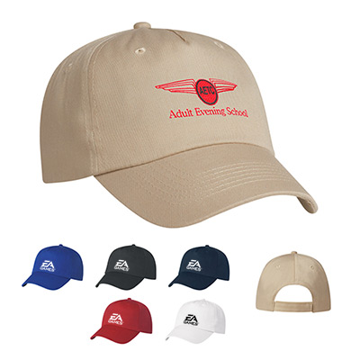 5 Panel Polyester Cap (Embroidered)