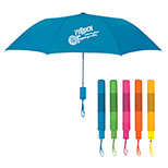 Promotional Neon Telescopic Folding Umbrella