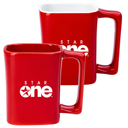 11 oz. Square Mug (Red)