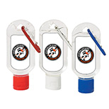 Logo Hand Sanitizer With Carabiner