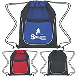 24592 - Drawstring Sports Pack With Dual Pockets