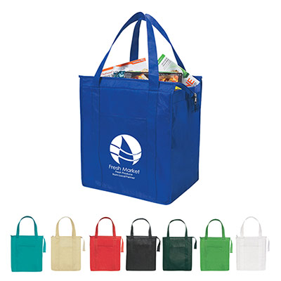 non-woven insulated shopper tote