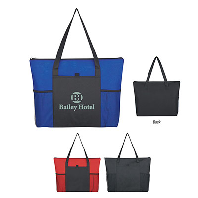 Voyager Zippered Tote Bag