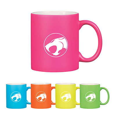 11 oz neon mug with c-handle