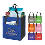 Promotional non-woven pocket tote bag