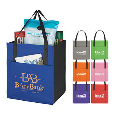 Customized non-woven pocket tote bag