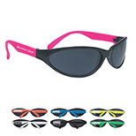 Promotional Wave Rubberized Sunglasses