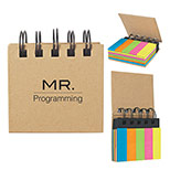Custom Spiral sticky note book and flags