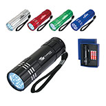 24829 - Aluminum LED Flashlight With Strap