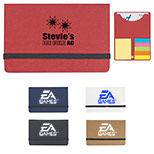 Logo Sticky Notes And Flags In Business Card Case