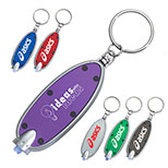 24866 - Oval LED Key Chain