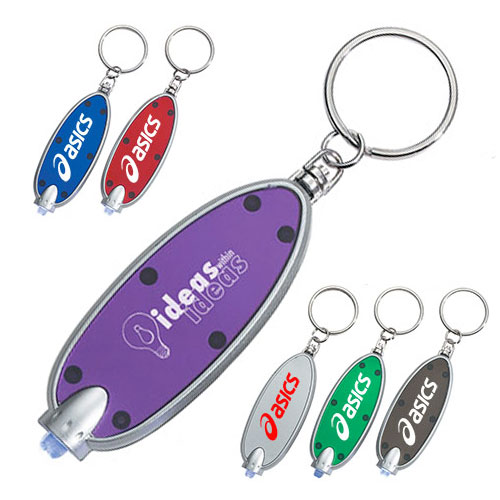 Oval LED Key Chain