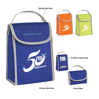 Custom Non-Woven Folding Identification Lunch Bag