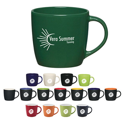 12 oz. colored café mug