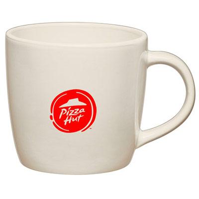 12 oz. White Café Mug