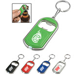 Imprinted Bottle Opener Key Chain With LED Light
