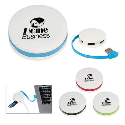 4-Port Round USB Hub